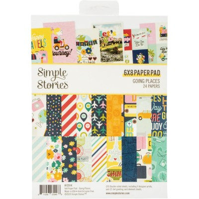 """Simple Stories - Papier 6"""" X 8""""  collection «Going Places» 24 pages recto-verso"""