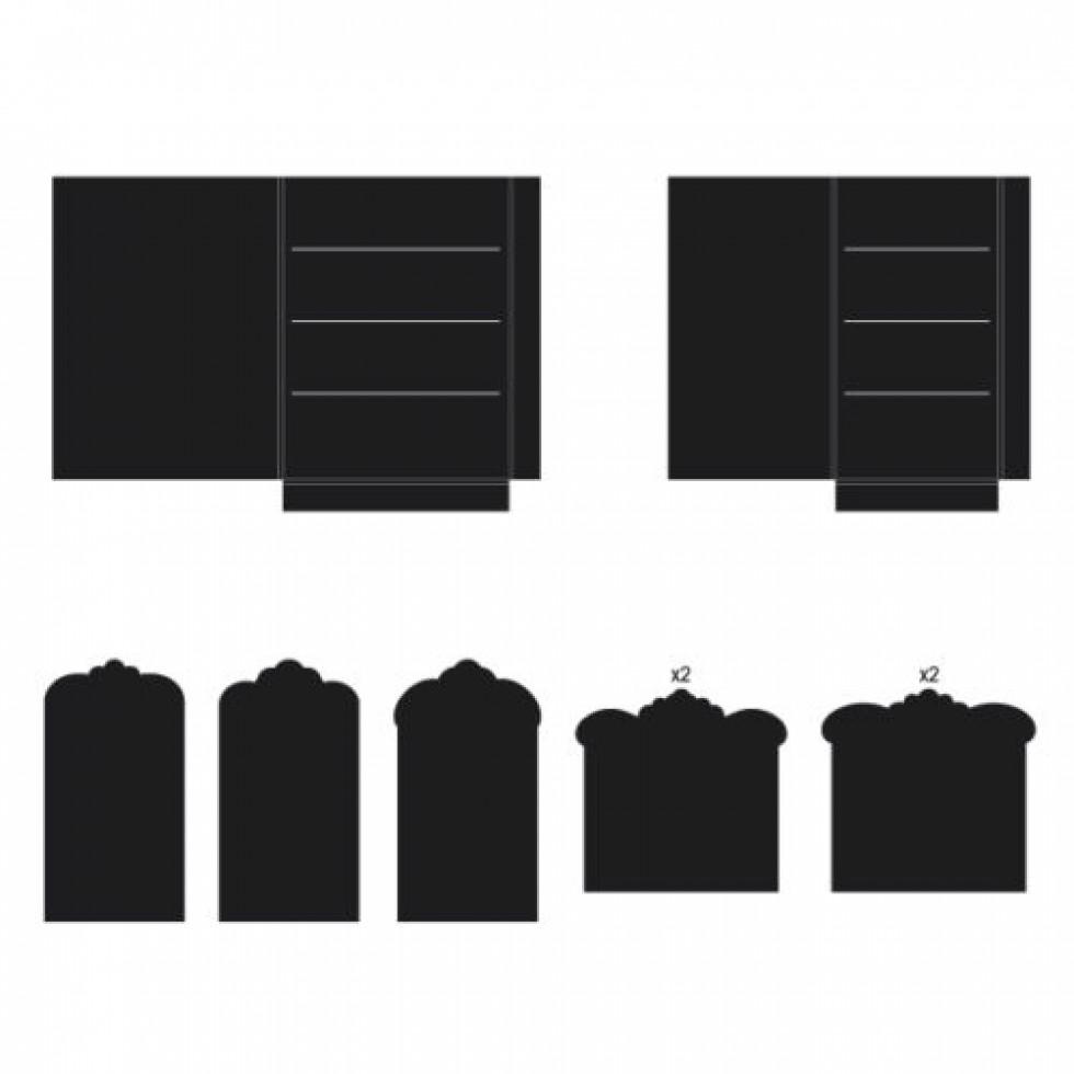 Heartfelt Creations Pocket /& Flipfold Inserts E-Kraft 816393018689
