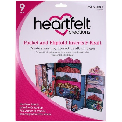 Heartfelt Creations  - Insertions pour album Flip Fold «Pocket & Flipfold insertions F-Kraft»