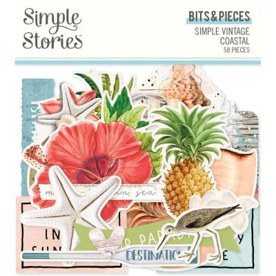 SImple Stories - Éphéméra «Bits and Pieces» 58 pcs