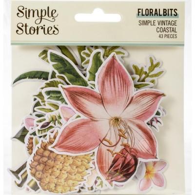 SImple Stories - Éphéméra «Floral Bits» 43 pcs