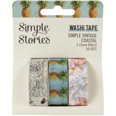 Simple Storie - Ensemble de washi tape collection «Simple Vintage Coastal» 3 rouleaux
