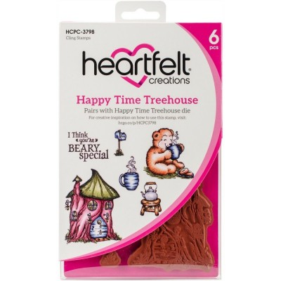 Heartfelt Creations  - Estampes «Happy Time Treehouse» 6 pièces