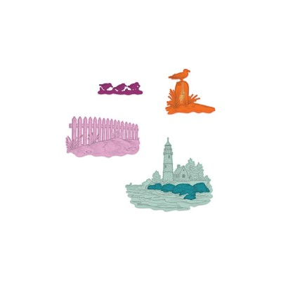 Heartfelt Creations - Dies modèle «Sea Breeze Harbor» 4 pièces