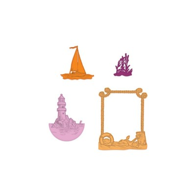 Heartfelt Creations - Dies modèle «A Day At Sea» 4 pièces