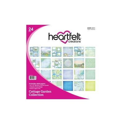"""Heartfelt Collections - Bloc de papier collection «Cottage Garden» 12"""" X 12""""  24 feuilles"""