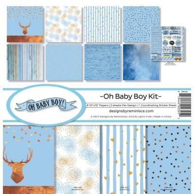 """Reminisce - Collection de papier «Oh Baby Boy» 12""""X 12"""" 8 feuilles"""