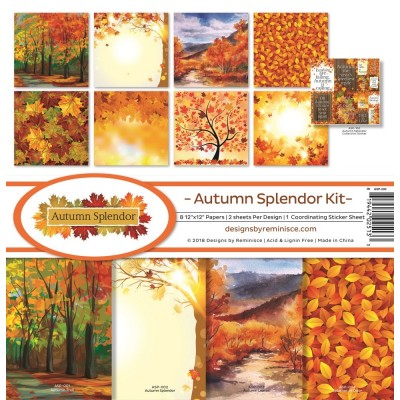"Reminisce - Collection de papier «Autumn Splendor» 12""X 12"" 8 feuilles"