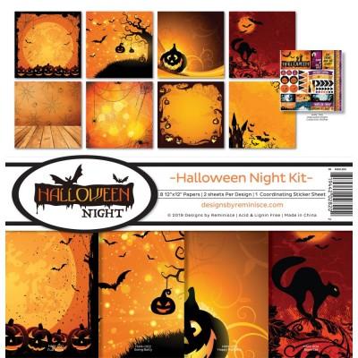 "Reminisce - Collection de papier «Halloween Night» 12""X 12"" 8 feuilles"