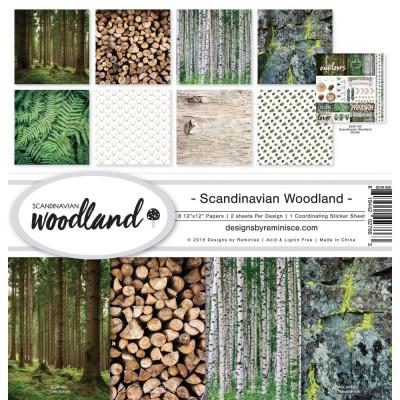 """Reminisce - Collection de papier «Scandinavian Woodland» 12""""X 12"""" 8 feuilles"""
