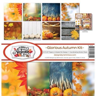 """Reminisce - Collection de papier «Glorious Autumn» 12""""X 12"""" 8 feuilles"""