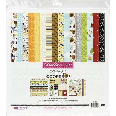 """Bella Blvd - Bloc de  papier double face «Cooper»  12"""" X 12""""   18 feuilles"""