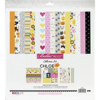 """Bella Blvd - Bloc de  papier double face «Chloe»  12"""" X 12""""   18 feuilles"""