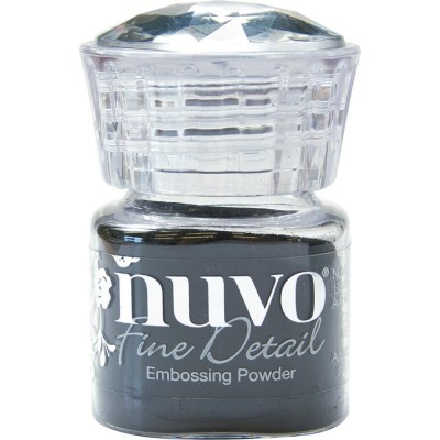 Nuvo - Poudre à embosser «Fine detail» couleur «Jet Black»