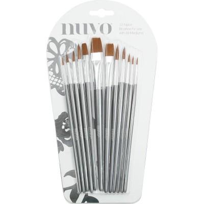 Nuvo- Ensemble de 12  pinceaux en nylon