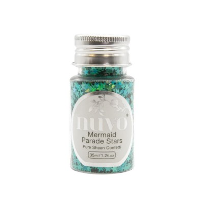 Nuvo - Embellissement «Pure Sheen Confetti » couleur « Mermaid Parade Stars»