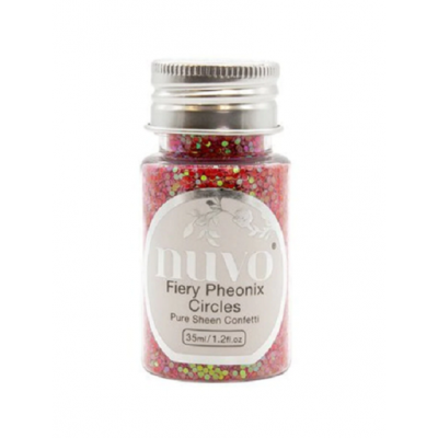 Nuvo - Embellissement «Pure Sheen Confetti » couleur « Fiery Phoenix»