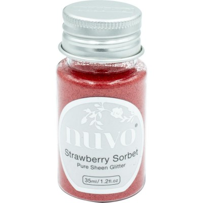 Nuvo - Embellissement «Pure Sheen Glitter» couleur « Strawberry Sorbet»