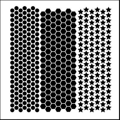 "TCW - Stencil modèle «Mini Punchinella» 6"" X 6"""