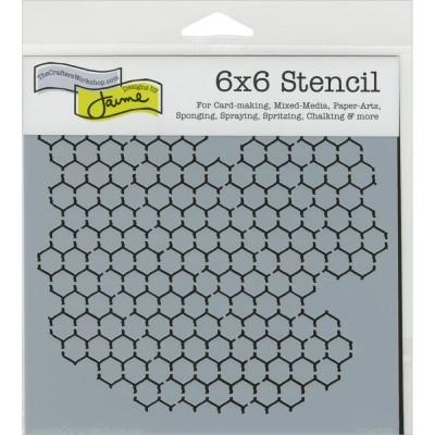 "TCW - Stencil modèle «Mini Chicken Wire» 6"" X 6"""