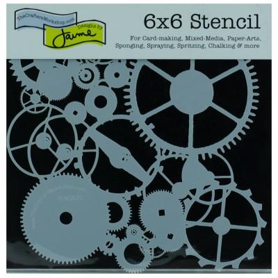 "TCW - Stencil modèle «Gears» 6"" X 6"""