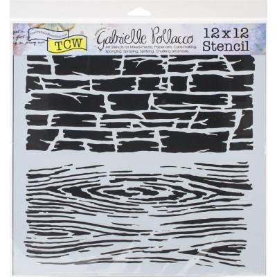 "TCW - Stencil modèle «Hard Textures» 12"" X 12"""