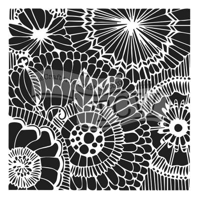 "TCW - Stencil modèle «Botanical Dream» 12"" X 12"""