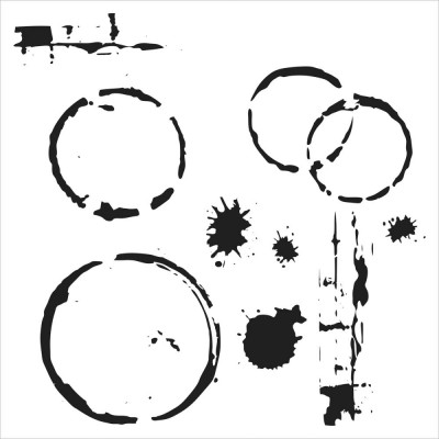 "TCW - Stencil modèle «Mini Coffee splotch» 6"" X 6"""