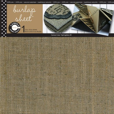 "Canvas Corp - Feuille de jute 12"" x 12"""