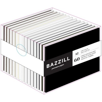 "Bazzill- «Value Pack Cards W/Envelopes» 4.25""X5.5"" 60/Pkg Neutres"