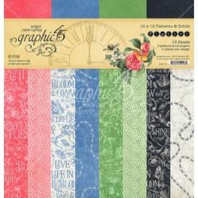 """Graphic 45 - «Flutter Patern» Ensemble de papier 12"""" X 12""""  16 feuilles"""