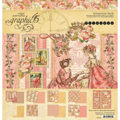 "Graphic 45 - «Princess» Ensemble de papier 12"" X 12""  16 feuilles"
