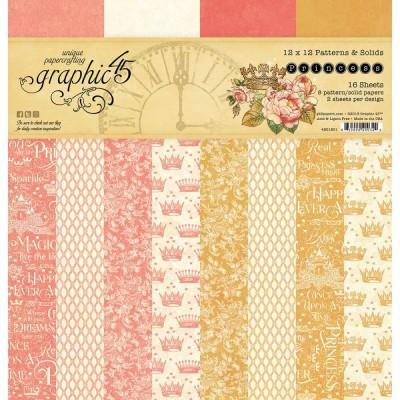 """Graphic 45 - """"Princess"""" Ensemble de papier 12"""" X 12""""  16 feuilles"""