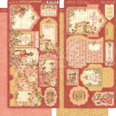 """Graphic 45 -   «Princess» feuilles d'éphéméra de 6"""" X 12"""""""