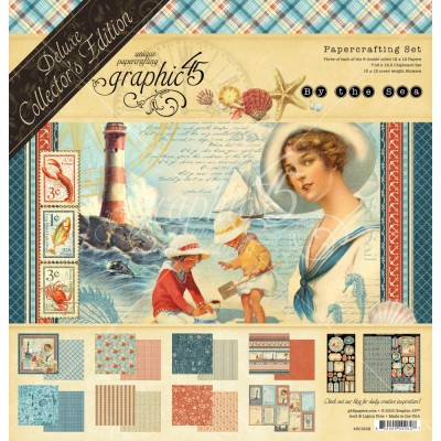 "Graphic 45 - «By The Sea» Ensemble de papier de luxe  12"" X 12""  24 feuilles"