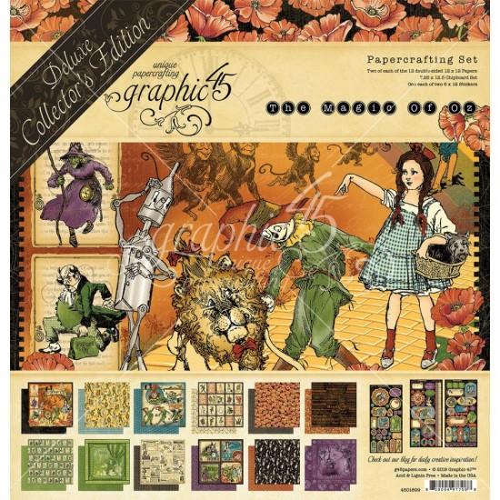 """Graphic 45 - «Magic Of Oz» Ensemble de papier de luxe  12"""" X 12""""  24 feuilles"""