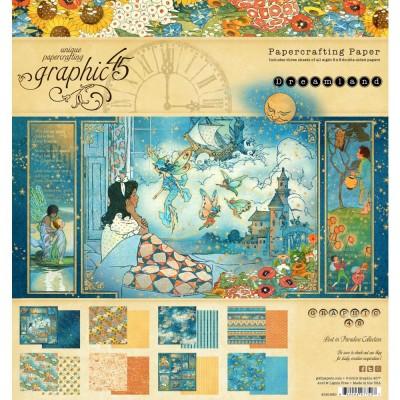 """Graphic 45 - Ensemble de papier «Dreamland»  12"""" X 12""""  16 feuilles"""