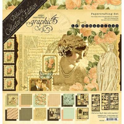 """Graphic 45 - «Le Romantique» Ensemble de papier de luxe  12"""" X 12""""  24 feuilles"""