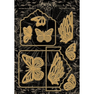 Graphic 45 - Dies  «Tag, Pocket and Butterfly»