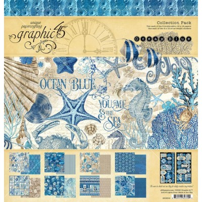 "Graphic 45 - «Ocean Blue» Ensemble de papier 12"" X 12""  16 feuilles"