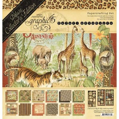 "Graphic 45 - «Collecor's Edition Safari Adventure» Ensemble de papier 12"" X 12""  24 feuilles"