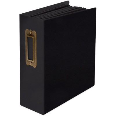 "Graphic 45 - Album  «Staples ATC Tag & Pocket Album 4""X5""» Noir"