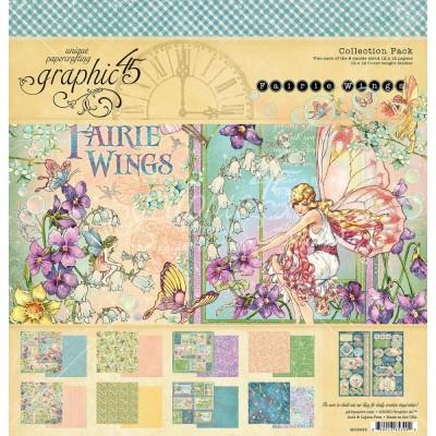 """PRECOMMANDE-Graphic 45 - «Fairie Wings» Ensemble de papier 12"""" X 12""""  16 feuilles"""