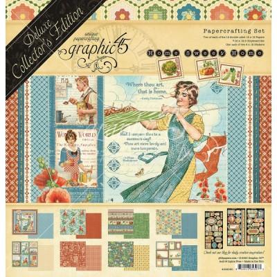 "PRECOMMANDE-Graphic 45 - «Collector's Edition Home Sweet Home» Ensemble de papier 12"" X 12""  24 feuilles"