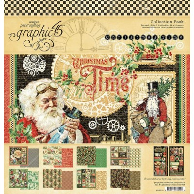 "Graphic 45 - «Christmas Time» Ensemble de papier 12"" X 12""  16 feuilles"