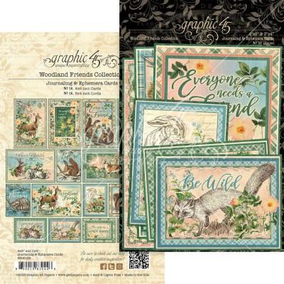LIQUIDATION-Graphic 45 - «Woodland Friends» paquet Éphémeras  32 pièces (le prix indiqué ci-dessous est déjà réduit à 50%)