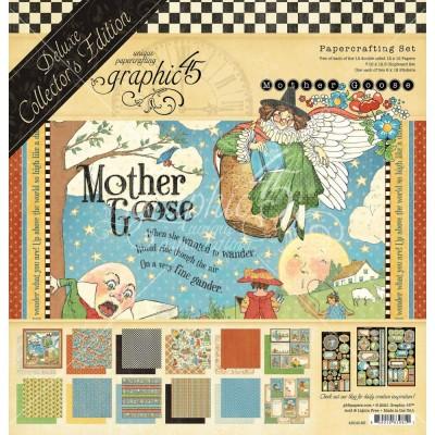 """PRÉCOMMANDE Graphic 45 - «Mother Goose» Ensemble deluxe 12"""" X 12""""  16 feuilles"""