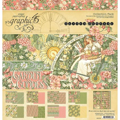 "Graphic 45 - «Garden Goddess» Ensemble de papier 12"" X 12""  16 feuilles"