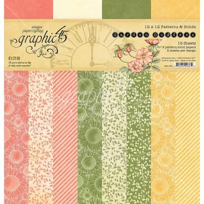 "Graphic 45 - «Garden Goddess Patern»Ensemble de papier 12"" X 12""  16 feuilles"