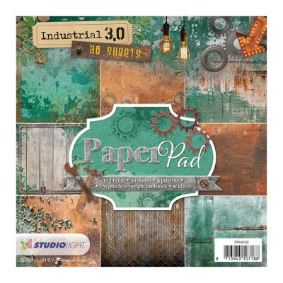 "Studio Light - Bloc de papier «Industrial 3.0» 6"" X 6""  36 feuilles"